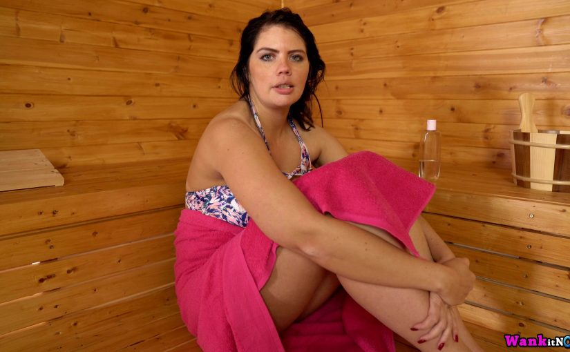 Kylie K is in the sauna and so are you but she's really, really horny
